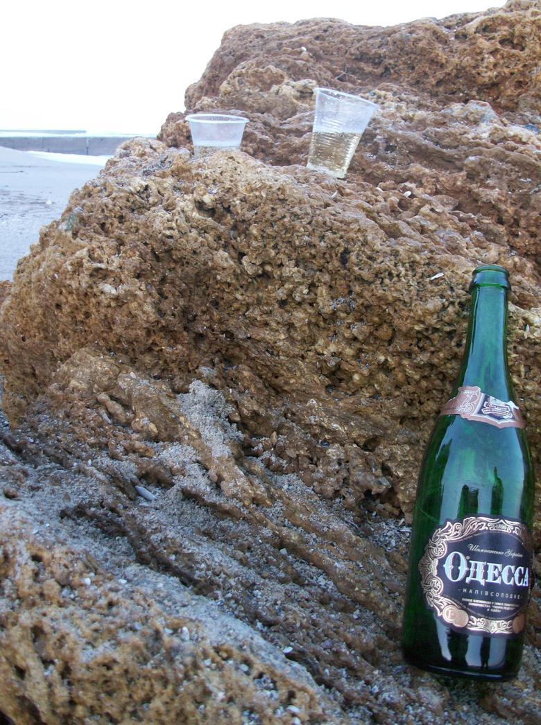 Шампанское и пару стаканчиков. Новый год на черном море.