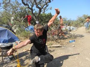 Тренировки в летнем лагере в Крыму.