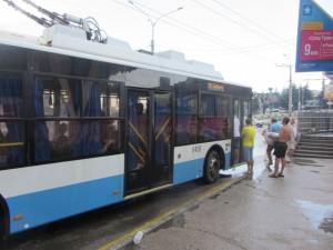 алушта в Симферополь на троллейбусе.
