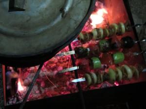 Мясные и вегетарианские шашлыки в Крыму.