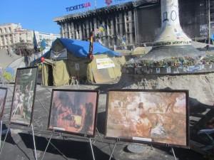 Христиане агитирую в Киеве на майдане