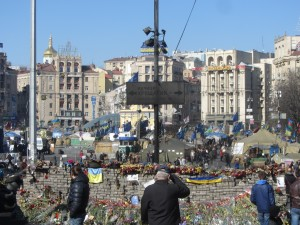 Трайр по погибшим на майдане в Киеве на площади независимости