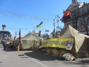 палаточный городок на майдане после революции
