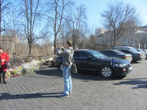 туристы на Евромайдане