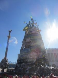 сооружение в честь погибшим на Евромайдане в киеве