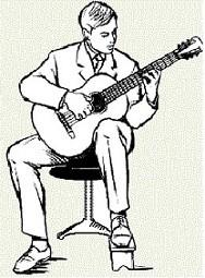 Правильная посадка для гитариста