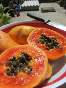 С чем и как едят папайю, Полезные свойства папайи, Состав папайи, Папайя противопоказания.