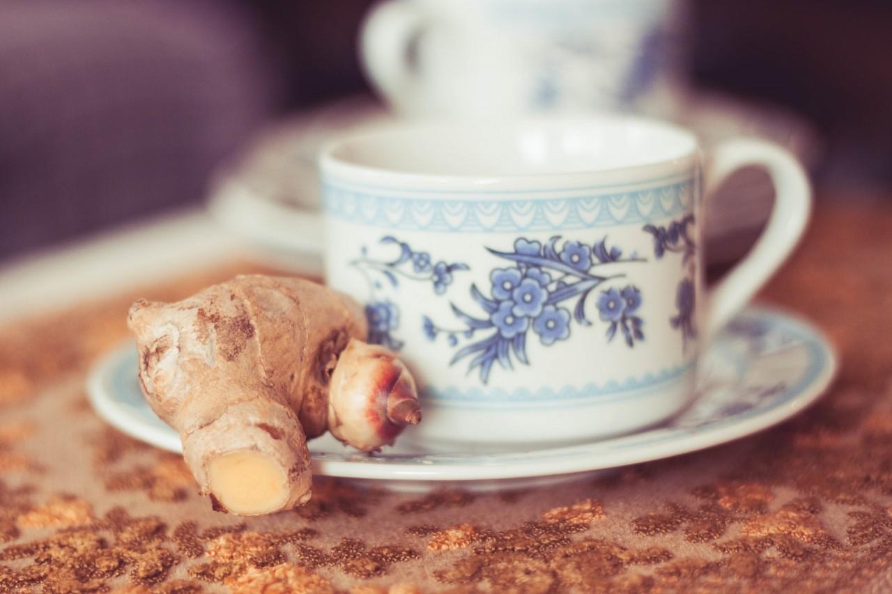 Рецепт чая с имбирем, Чай с имбирем и чесноком, Зеленый чай с имбирем,