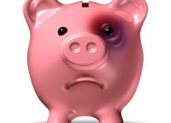 Свинка копилка с подбитым глазом, психологическия и гинетическаЯ нищета.