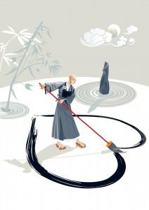Основные принципы буддизма, Zen Monk Drawing A Heart