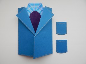 Пошаговый процесс изготовления хенд мейд открытки для мужчины