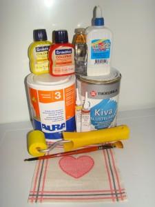 Обратный декупаж тарелки, яичный кракелюр, используемые материалы, Obratniy decupage tarelki, ispolzuemie materiali