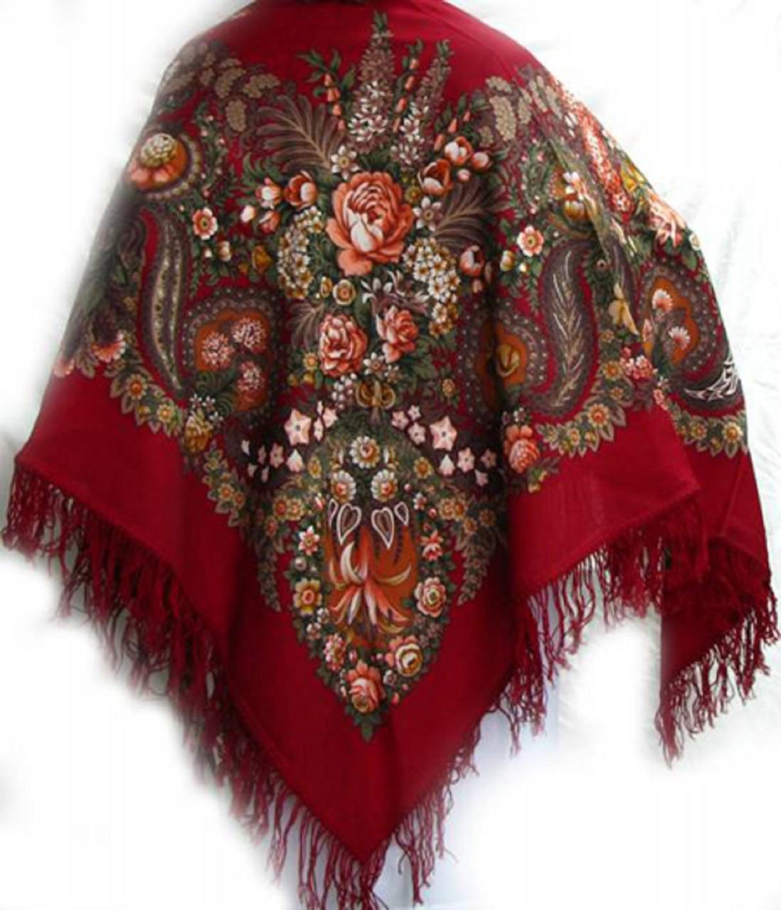 Картинка русский платок на прозрачном фоне был