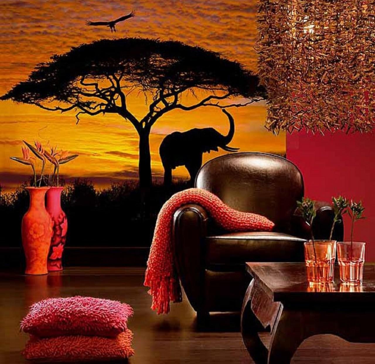 Африканский стиль интерьера