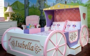 Дизайн кровати для девочки до 3 лет