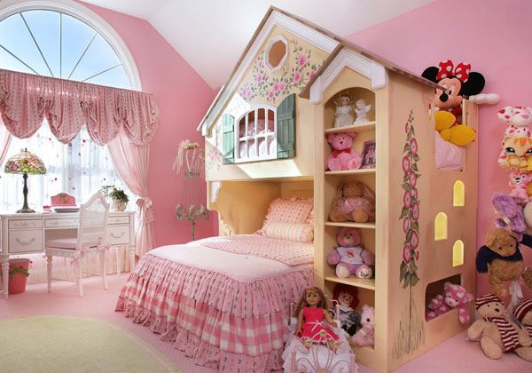 дизайн детской для девочки 3-6 лет