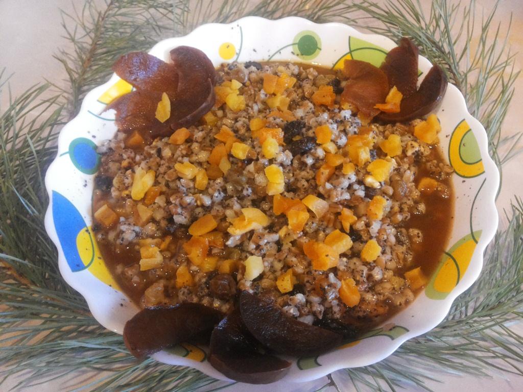 традиционная кутья, рождественское сочиво, как приготовить кутью из пшеницы, kut'ja iz pshenicy
